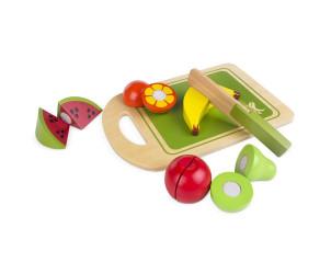 Juego de frutas, madera natural