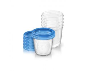 Set de recipientes para leche materna