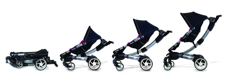 Cochecito de paseo Origami de 4Moms con el portabebés Baby