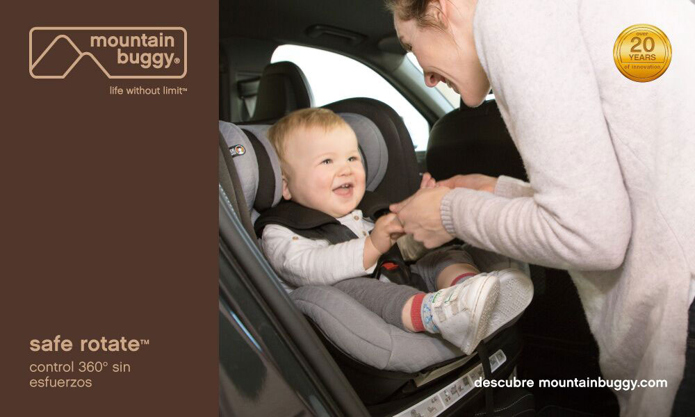 bebe prueba silla de coche Safe Rotate Mountain Buggy